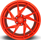 Porsche Forged Wheels Red Customized 20 Staggered Car Alloy Rims For Porsche	 911 Turbo