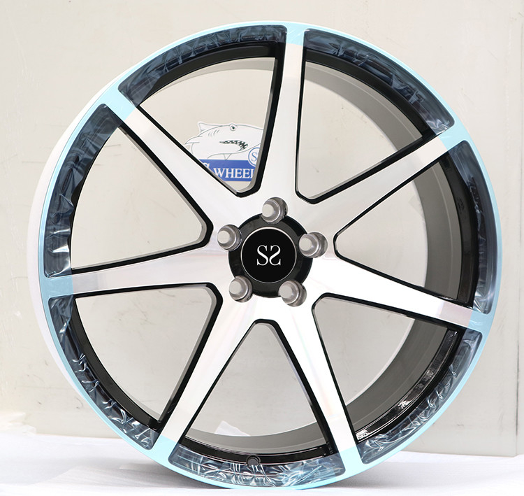 Gloss Black Machined 1-piece Forged Alloy Rims For Auid Q7 TUV Rims