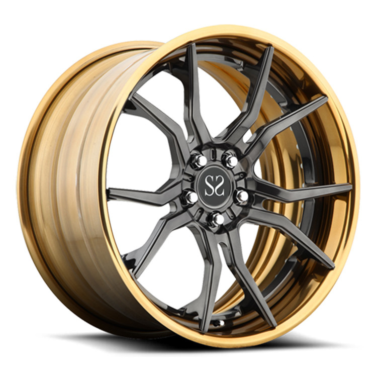 90mm ET VIA  Standard 2-Piece Forged Wheels For Ford Mustand