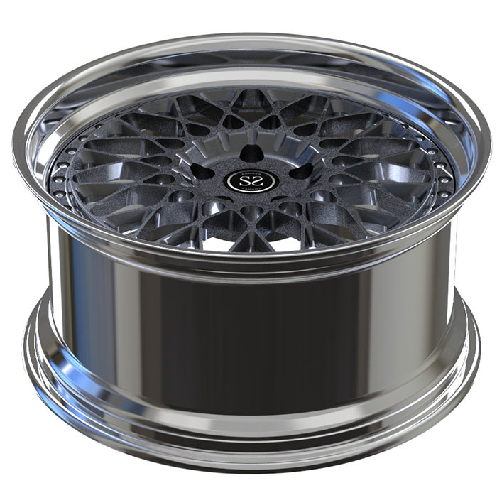 TUV Polish 2 Piece Forged Wheels A6061 T6 Aluminum Alloy